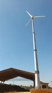 Gerador de energia eólica em olaria