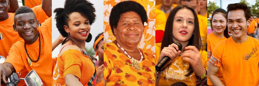 """""""Torne o Mundo Laranja: Aumente os Investimentos para Eliminar a Violência contra Mulheres e Meninas"""" é uma iniciativa da ONU para mostrar o engajamento global pelo fim da violência de gênero. Foto: ONU Mulheres"""
