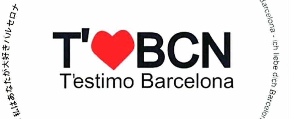 Declaração de amor a Barcelona na língua catalã.