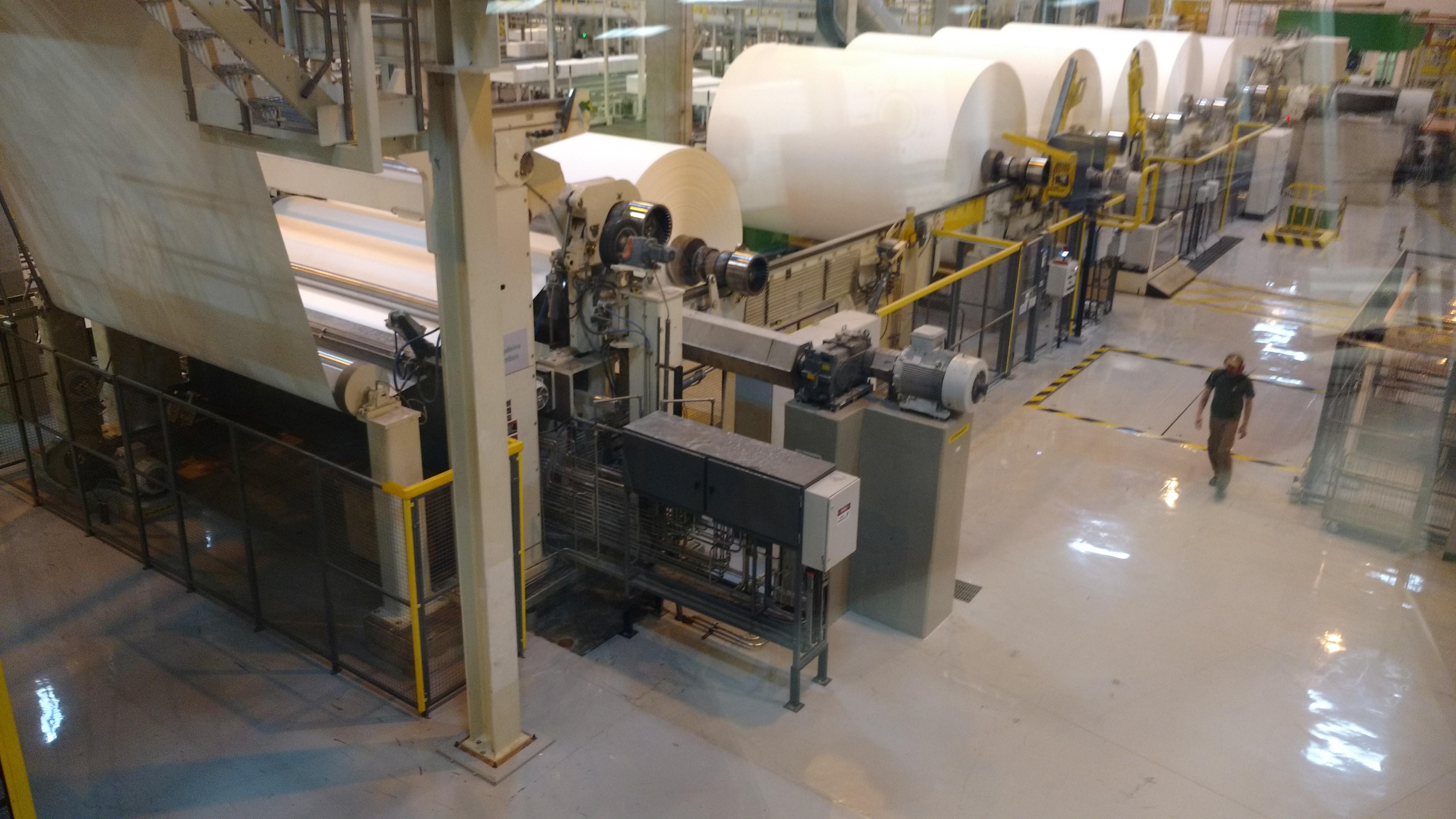 Fábrica de celulose da Klabin em Ortigueira