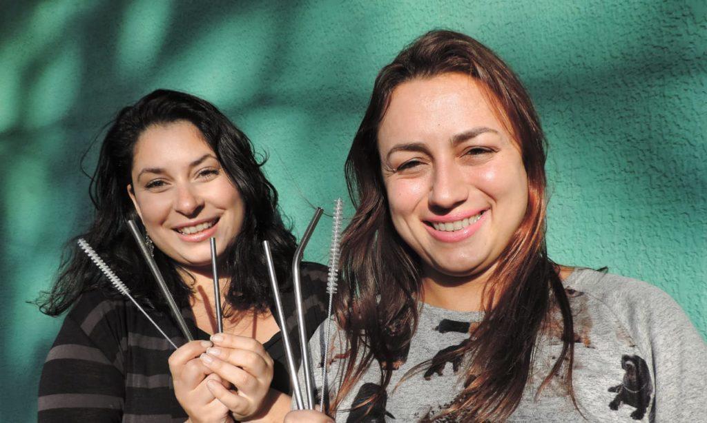 Patrícya e Jessica, as criadoras da marca BeeGreen em Curitiba. Foto Daniela Carvalho